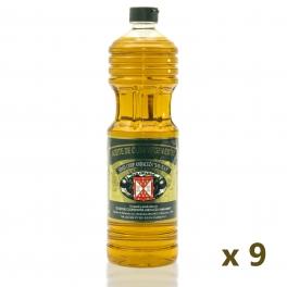 Caja: 9 botellas de 1 l. aceite de oliva virgen extra