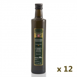 Pack: 12 glass bottles of 0,5 l. extra virgin olive oil