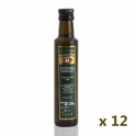 Pack: 12 glass bottles of 250 ml. extra virgin olive oil