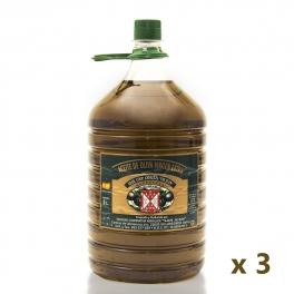 Pack: 3 bottles of 5 l. extra virgin olive oil