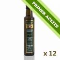 PRIMER ACEITE - Caja: 12 botellas de cristal de 250 ml. aceite de oliva virgen extra