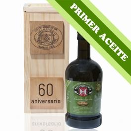 PRIMER ACEITE - Estuche madera: 1 botella de cristal Regal de 0,5 l. aceite de oliva virgen extra