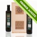 FIRST OIL - Wooden case with 2 Dorica bottles of 0,5 l. extra virgin olive oil