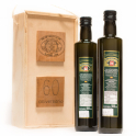 Estuche 60 Aniversario: 2 botellas de cristal de 0,5 L. Aceite de oliva virgen extra
