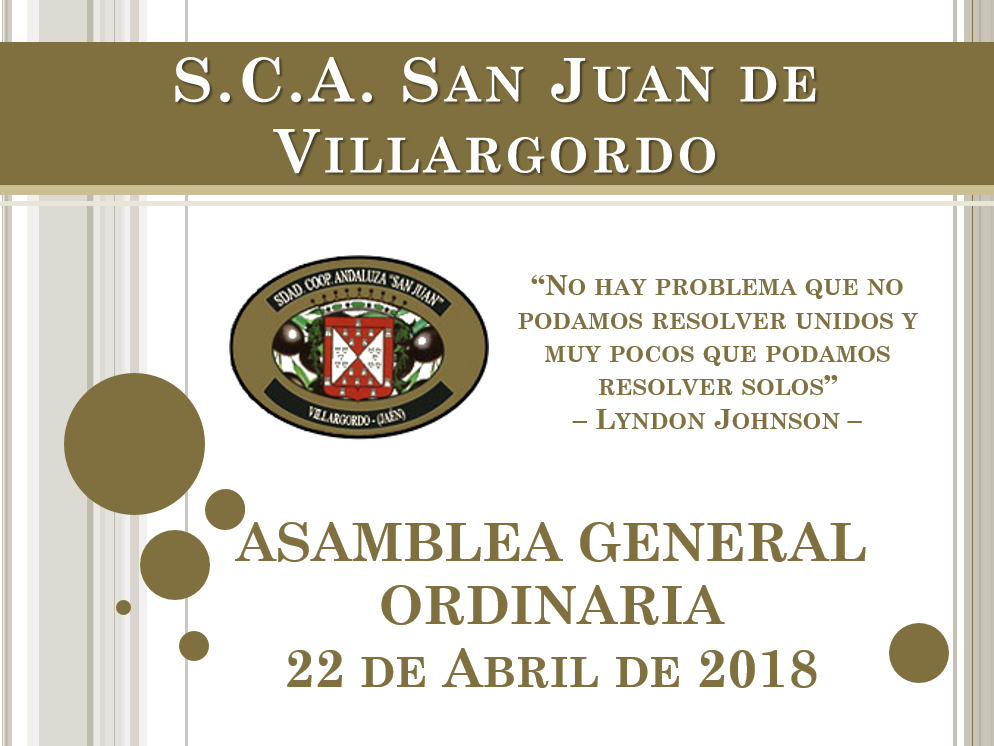 22 de Abril: Asamblea General Ordinaria